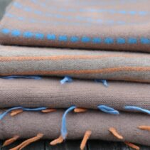 knitted, felted hand woven scarves